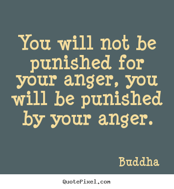 Buddha picture quotes - You will not be punished for your anger, you.. - Inspirational quote
