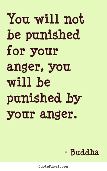 Inspirational quote - You will not be punished for your anger, you will be..