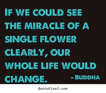 Quote about life - If we could see the miracle of a single flower clearly, our whole..