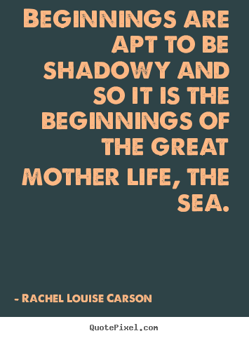 Life sayings - Beginnings are apt to be shadowy and so it is the beginnings..