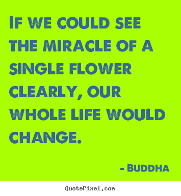Design your own photo quotes about life - If we could see the miracle of a single flower..