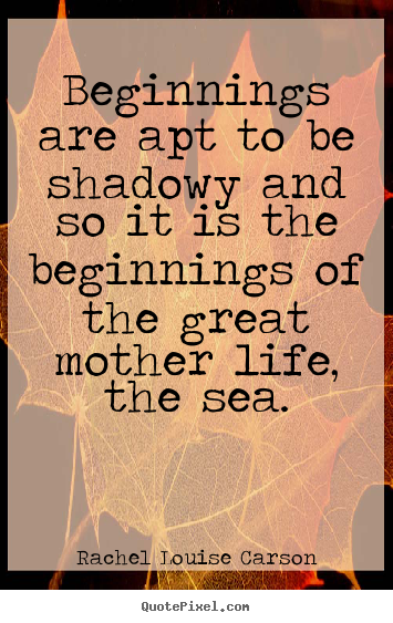 Make custom picture quotes about life - Beginnings are apt to be shadowy and so it is the beginnings..