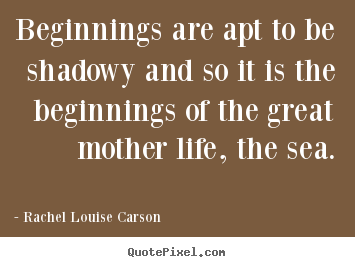 Life quote - Beginnings are apt to be shadowy and so it is the beginnings of the great..