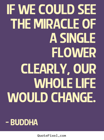 Create graphic poster quotes about life - If we could see the miracle of a single flower clearly, our whole..