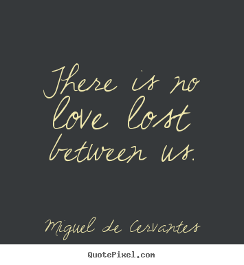 Love quote - There is no love lost between us.