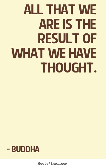 Buddha picture quotes - All that we are is the result of what we have thought. - Motivational quote