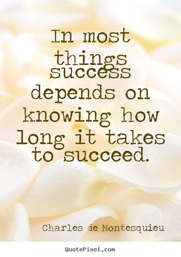 Success quotes - In most things success depends on knowing how long it takes..