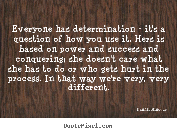 Create graphic picture quotes about success - Everyone has determination - it's a question of how you use it...
